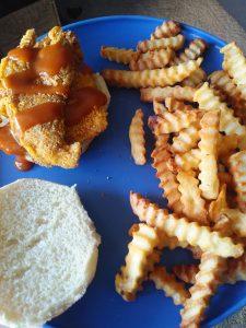fried oyster mushroom sandwich